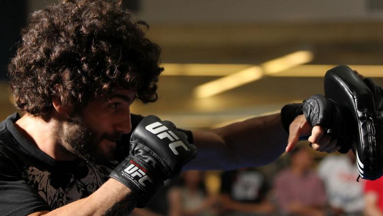 SUNRISE, FL - JUNE 06:   Charlie Brenneman works out for fans and media during the UFC open workouts at Sawgrass Mills Mall on June 6, 2012 in Sunrise, Florida.  (Photo by Josh Hedges/Zuffa LLC/Zuffa LLC via Getty Images)