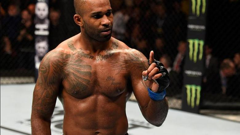MANCHESTER, ENGLAND - OCTOBER 08:  Jimi Manuwa of England celebrates his knockout victory over Ovince Saint Preux in their light heavyweight bout during the UFC 204 Fight Night at the Manchester Evening News Arena on October 8, 2016 in Manchester, England