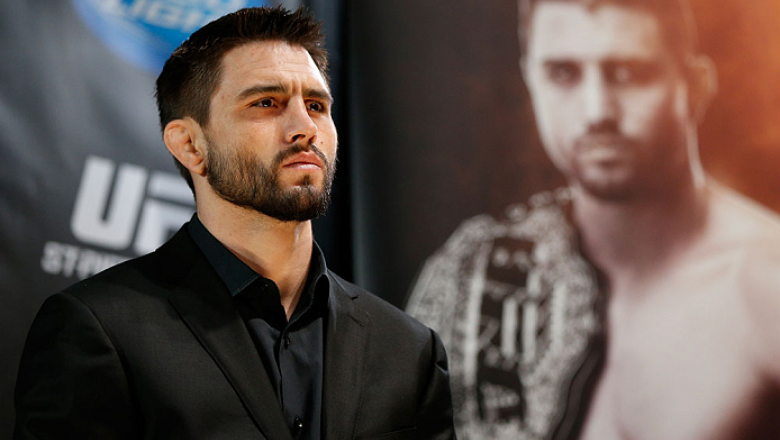 MONTREAL, CANADA - NOVEMBER 14:  Carlos Condit interacts with media and fans during the final pre-fight press conference ahead of UFC 154 at New City Gas on November 14, 2012 in Montreal, Quebec, Canada.  (Photo by Josh Hedges/Zuffa LLC/Zuffa LLC via Gett