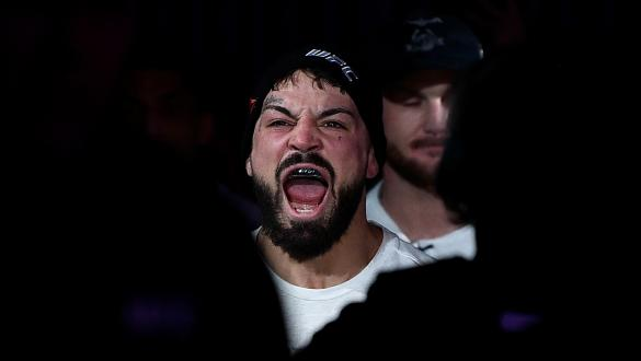 DENVER, CO - NOVEMBER 10: Mike Perry enters the arena prior to facing Donald Cerrone in their welterweight bout during the UFC Fight Night event inside Pepsi Center on November 10, 2018 in Denver, Colorado. (Photo by Chris Unger/Zuffa LLC/Zuffa LLC via Getty Images)
