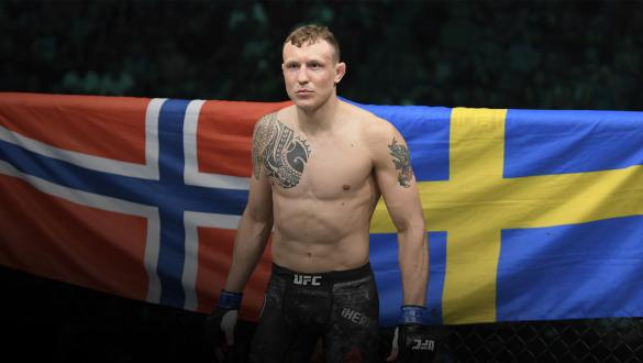 SUNRISE, FL - APRIL 27: Jack Hermansson of Sweden stands in his corner prior to his middleweight bout against Jacare Souza of Brazil during the UFC Fight Night event at BB&T Center on April 27, 2019 in Sunrise, Florida. (Photo by Jeff Bottari/Zuffa LLC/Zuffa LLC via Getty Images)