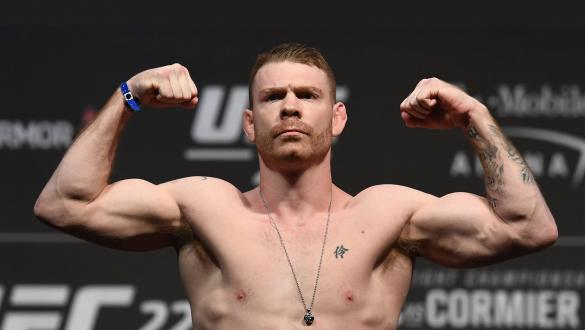 Paul Felder poses on the scale during the UFC 226 weigh-in inside T-Mobile Arena on July 6, 2018 in Las Vegas, Nevada. (Photo by Josh Hedges/Zuffa LLC)