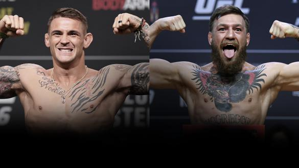 Dustin Poirier & Conor McGregor Weigh In UFC 257