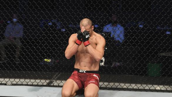 Tom Breese celebrates his victory over KB Bhullar in their middleweight bout during the UFC Fight Night event inside Flash Forum on UFC Fight Island on October 11, 2020 in Abu Dhabi, United Arab Emirates. (Photo by Josh Hedges/Zuffa LLC)