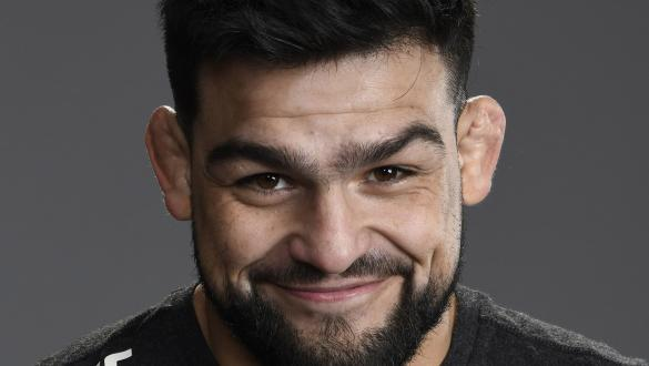 Kelvin Gastelum poses for a portrait after his victory during the UFC 258 event at UFC APEX on February 13, 2021 in Las Vegas, Nevada. (Photo by Mike Roach/Zuffa LLC)
