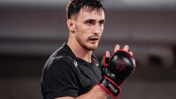 Modestas Bukauskas trains for his UFC 260 bout at the UFC Performance Institute on March 25, 2021. (Photo by Zac Pacleb)