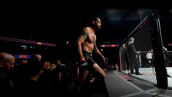Matt Brown prepares to enter the Octagon prior to facing Diego Sanchez in their welterweight bout during the UFC Fight Night event inside the Ted Constant Convention Center on November 11, 2017 in Norfolk, Virginia. (Photo by Brandon Magnus/Zuffa LLC)