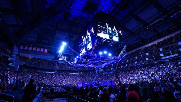 A general view of the crowd during the UFC 262 event at Toyota Center on May 15, 2021 in Houston, Texas. (Photo by Josh Hedges/Zuffa LLC)
