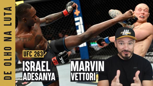 Israel Adesanya e Marvin Vettori em encarada thumb do De Olho na Luta