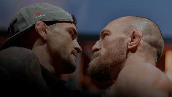 Dustin Poirier encara Conor McGregor na pesagem do UFC 257