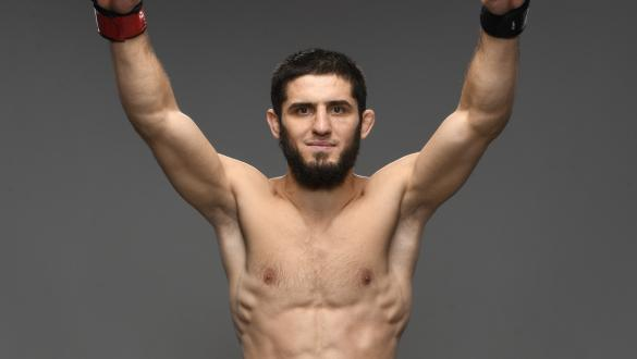 Islam Makhachev of Russia poses for a portrait after his victory during the UFC Fight Night event at UFC APEX on July 17, 2021 in Las Vegas, Nevada. (Photo by Mike Roach/Zuffa LLC)