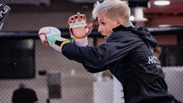 Macy Chiasson trains at the UFC Performance Institute on July 21, 2021. (Photo by Zac Pacleb)