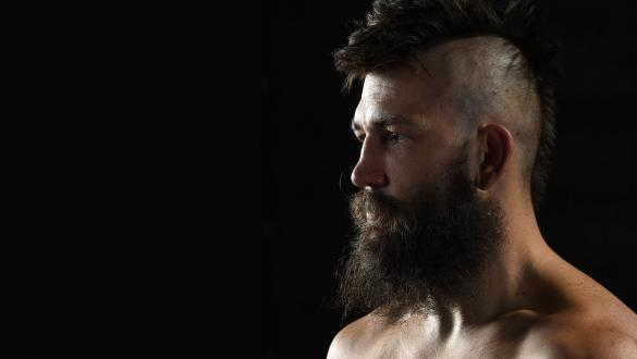 Bryan Barberena poses for a portrait after his victory during the UFC Fight Night event at UFC APEX on September 12 2020 in Las Vegas Nevada (Photo by Mike Roach/Zuffa LLC)