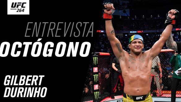 Thumbnail da entrevista de octógono com Gilbert Durinho no UFC 264