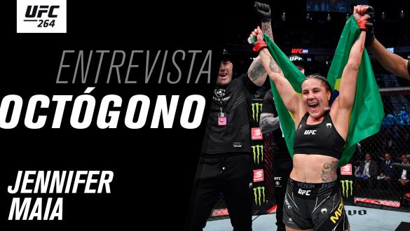 Thumbnail da entrevista de Octógono com Jennifer Maia no UFC 264