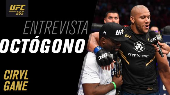 Entrevista de octógono com Ciryl Gane   UFC 265
