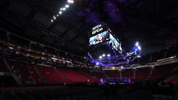 Octógono do UFC 265 no Toyota Center em Houston