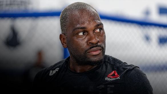 Derek Brunson trains at Sanford MMA in Deerfield Beach, Florida, on July 1, 2021. (Photo by Zac Pacleb)
