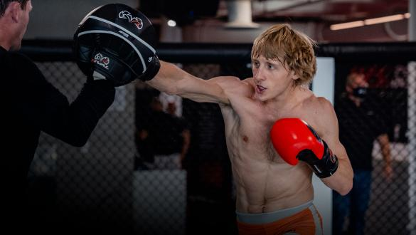 Paddy Pimblett trains at the UFC Performance Institute on September 1, 2021. (Photo by Zac Pacleb)