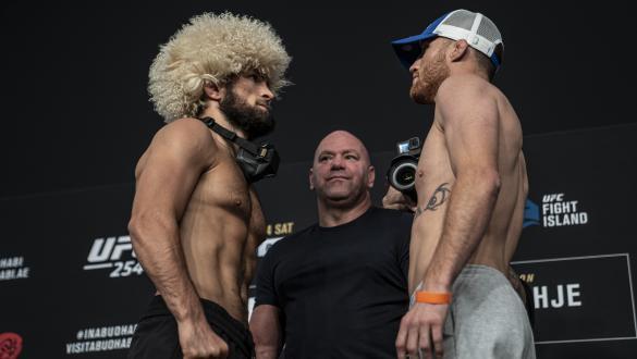 UFC 254 Khabib Nurmagomedov faces Justin Gaethje