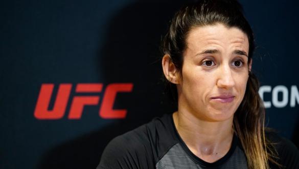 Marina Rodriguez talks at UFC Media Day