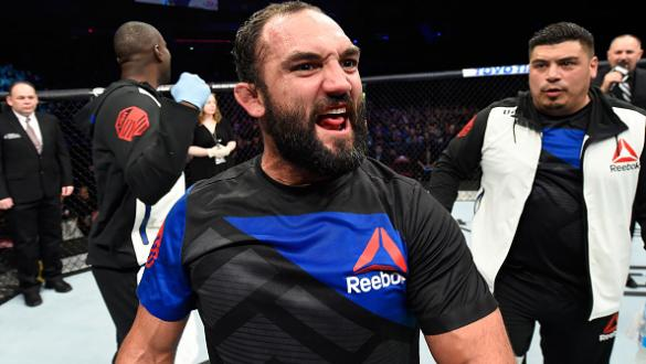 HALIFAX, NS - FEBRUARY 19:  Johny Hendricks celebrates after defeating Hector Lombard of Cuba in their middleweight fight during the UFC Fight Night event inside the Scotiabank Centre on February 19, 2017 in Halifax, Nova Scotia, Canada. (Photo by Josh He