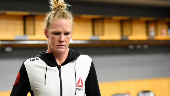 CHICAGO, IL - JULY 23:  Holly Holm warms up backstage during the UFC Fight Night event at the United Center on July 23, 2016 in Chicago, Illinois. (Photo by Mike Roach/Zuffa LLC/Zuffa LLC via Getty Images)