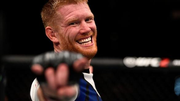 VANCOUVER, BC - AUGUST 27:  Sam Alvey of the United States celebrates his victory over Kevin Casey of the United States in their middleweight bout during the UFC Fight Night event at Rogers Arena on August 27, 2016 in Vancouver, British Columbia, Canada.