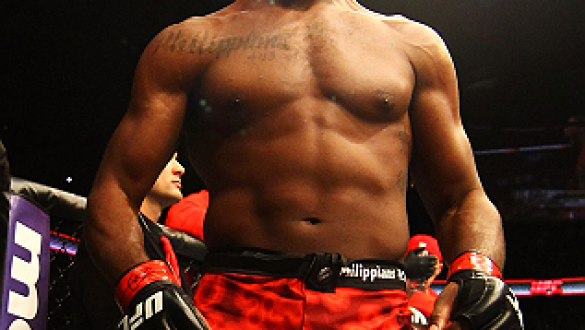 ATLANTA, GA - APRIL 21:  Jon Jones is introduced for his light heavyweight title bout against Rashad Evans for UFC 145 at Philips Arena on April 21, 2012 in Atlanta, Georgia.  (Photo by Al Bello/Zuffa LLC/Zuffa LLC via Getty Images)