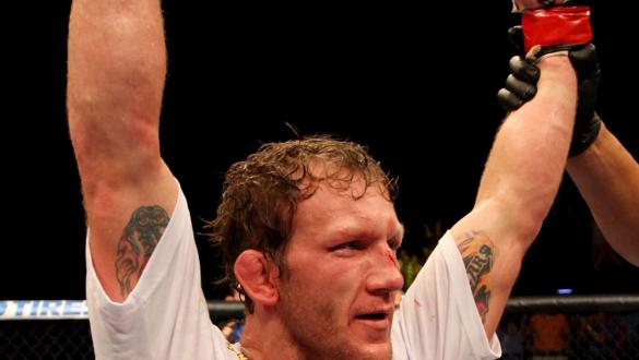 ATLANTIC CITY, NJ - JUNE 22:  Gray Maynard celebrates his win by split decision over Clay Guida (not pictured) in the main event lightweight bout during UFC on FX 4 at Revel Casino on June 22, 2012 in Atlantic City, New Jersey.  (Photo by Nick Laham/Zuffa