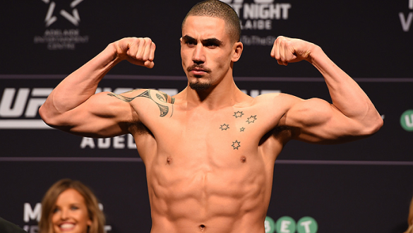 ADELAIDE, AUSTRALIA - MAY 09:   Robert Whittaker of New Zealand weighs in during the UFC weigh-in event at the Adelaide Entertainment Centre on May 9, 2015 in Adelaide, Australia. (Photo by Josh Hedges/Zuffa LLC/Zuffa LLC via Getty Images)