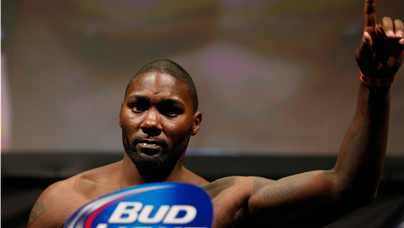 BALTIMORE, MD - APRIL 25:  Anthony Johnson weighs in during the UFC 172 weigh-in at the Baltimore Arena on April 25, 2014 in Baltimore, Maryland. (Photo by Josh Hedges/Zuffa LLC/Zuffa LLC via Getty Images)