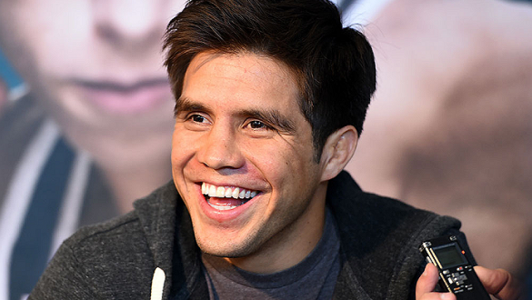DALLAS, TX - MARCH 12:  Henry Cejudo interacts with media during the UFC 185 Ultimate Media Day at the American Airlines Center on March 12, 2015 in Dallas, Texas. (Photo by Josh Hedges/Zuffa LLC/Zuffa LLC via Getty Images)