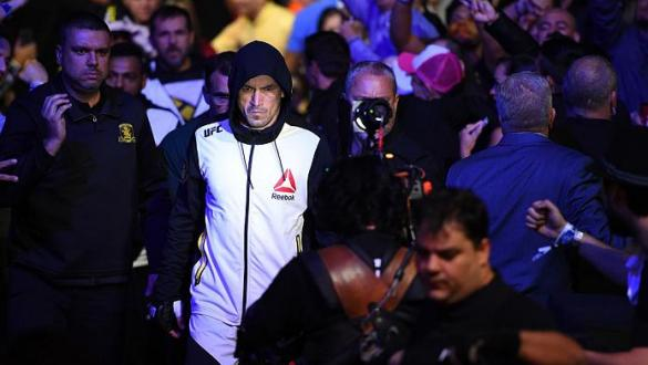 CURITIBA, BRAZIL - MAY 14:  Demian Maia of Brazil enters the stadium before facing Matt Brown in their welterweight bout during the UFC 198 event at Arena da Baixada stadium on May 14, 2016 in Curitiba, Parana, Brazil.  (Photo by Josh Hedges/Zuffa LLC/Zuf