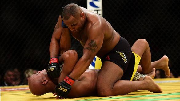 LAS VEGAS, NV - JULY 09:  Daniel Cormier (top) grapples with Anderson Silva of Brazil in their light heavyweight bout during the UFC 200 event on July 9, 2016 at T-Mobile Arena in Las Vegas, Nevada.  (Photo by Harry How/Zuffa LLC/Zuffa LLC via Getty Image