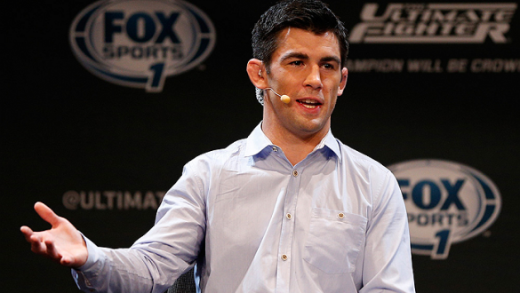 LAS VEGAS, NV - JULY 03:  Former UFC bantamweight champion Dominick Cruz hosts the UFC Ultimate Media Day show at the Mandalay Bay Resort and Casino on July 3, 2014 in Las Vegas, Nevada.  (Photo by Josh Hedges/Zuffa LLC/Zuffa LLC via Getty Images)