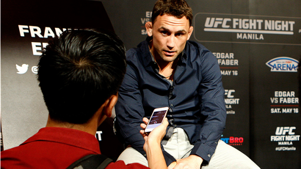 PARANAQUE, METRO MANILA, PHILIPPINES - MAY 14:  Frankie Edgar interacts with the media during the UFC Ultimate Media Day at the Solaire Resort and Casino on May 14, 2015 in Paranaque, Metro Manila, Philippines. (Photo by Mitch Viquez/Zuffa LLC/Zuffa LLC v