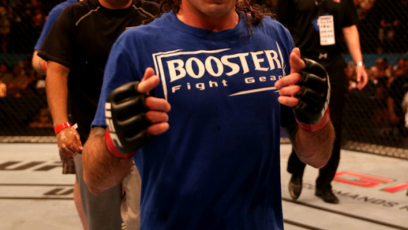 ABU DHABI, UNITED ARAB EMIRATES - APRIL 11:  Clay Guida celebrates after his unanimous decision victory against Tatsuya Kawajiri of Japan during UFC Fight Night 39 at du Arena on April 11, 2014 in Abu Dhabi, United Arab Emirates.  (Photo by Warren Little/