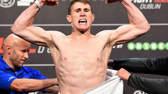 DUBLIN, IRELAND - OCTOBER 23:  Darren Till of England weighs in during the UFC weigh-in at 3Arena on October 23, 2015 in Dublin, Ireland. (Photo by Josh Hedges/Zuffa LLC/Zuffa LLC via Getty Images)