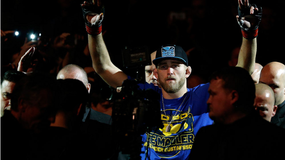 LONDON, ENGLAND - MARCH 08:  Alexander Gustafsson enters the arena before his light heavyweight fight against Jimi Manuwa during the UFC Fight Night London event at the O2 Arena on March 8, 2014 in London, England. (Photo by Josh Hedges/Zuffa LLC/Zuffa LL