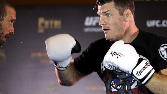 MACAU - AUGUST 21:  Michael Bisping during the UFC open workouts at the Venetian Macau on August 21, 2014 in Macau. (Photo by Mitch Viquez/Zuffa LLC/Zuffa LLC via Getty Images)
