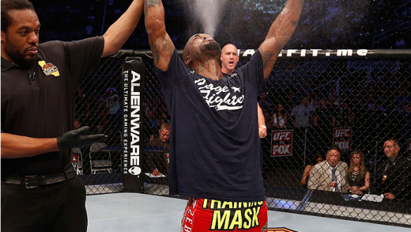 SAN JOSE, CA - JULY 26:  Bobby Green celebrates after his split-decision victory over Josh Thomson in their lightweight bout during the UFC Fight Night event at SAP Center on July 26, 2014 in San Jose, California.  (Photo by Josh Hedges/Zuffa LLC/Zuffa LL