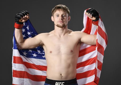 Bryce Mitchell poses for a portrait backstage during the UFC Fight Night event at Capital One Arena on December 07, 2019 in Washington, DC. (Photo by Mike Roach/Zuffa LLC via Getty Images)