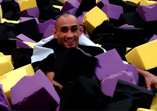 UFC 256 Embedded, Tony Ferguson Sits In A Foam Pit At A Trampoline Park