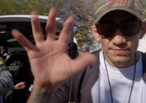 Tony Ferguson checks in with his not-coach, UFC 256 Embedded