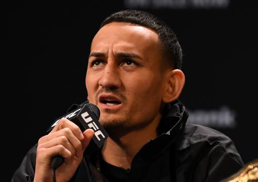 Max Holloway interacts with fans and media during the UFC 231 Press Conference at the Winter Garden Theatre on December 5, 2018 in Toronto, Ontario, Canada. (Photo by Josh Hedges/Zuffa LLC)