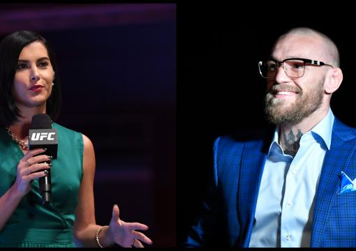 Megan Olivi and Conor McGregor