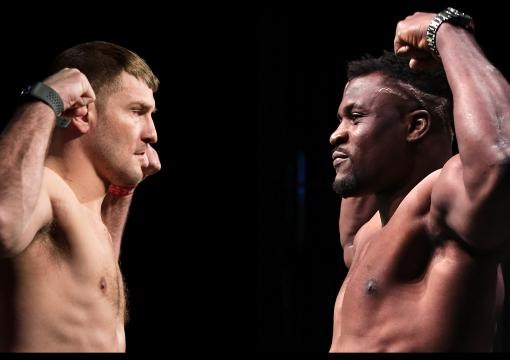 Stipe Miocic Francis Ngannou Weigh In