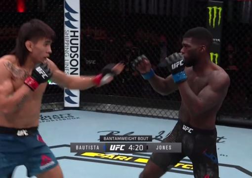 Trevin Jones Sneaks a Strike to TKO Bautista
