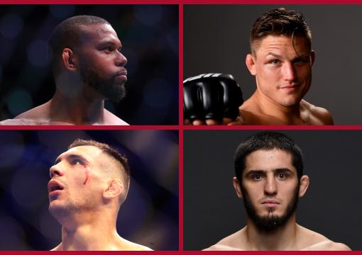 Islam Makhachev, Drew Dober, Thiago Santos, Aleksandar Rakic